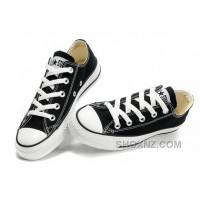 Black CONVERSE Chuck Taylor All Star Lo Top Canvas Shoes 86hbD