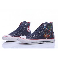 CONVERSE Chuck Taylor Marvel Comics The Avengers Print Blue High CC4nb