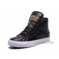Black High CONVERSE Velcro Big Tongue Winter Leather CT All Star X68eN