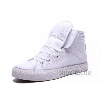 White CONVERSE Big Tongue Velcro Winter Leather CT All Star Shoes PtRwm