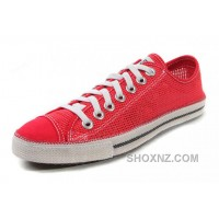 Red CONVERSE Summer Collection Mesh Style Chuckout All Star Tops Casual Shoes RYNeZ