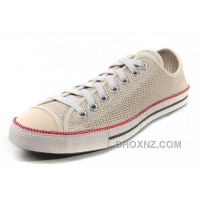 Beige CONVERSE All Star Summer Collection Chuckout Mesh Style Tops Casual Shoes DTXAj