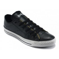 Black Leather CONVERSE By John Varvatos Double Zipper Oxford Winter Chuck Taylor All Star Tops Sneakers Xz82t