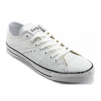 White Leather CONVERSE By John Varvatos Double Zipper Oxford Winter Chuck Taylor All Star Tops Sneakers B3dZf