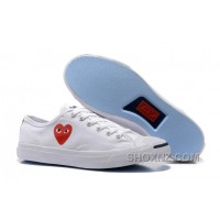 CONVERSE Jack PURCELL 151019C Comme Des Garcons Love Heart White Jd3BC