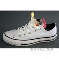Converse All Star Double Tongue White Yellow Pink Shoes NFAt5