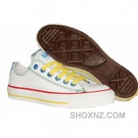 Converse All Star Double Zipper White Shoes AxbF8