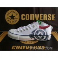 Converse All Star Plaid Low Top Sneaker White Red Beige Shoes BQSAf