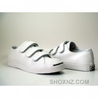 Converse Jack Purcell Leather 3 Strap Black White Shoes DBZyr