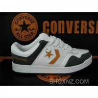 Converse One Star Leather 3 Strap Low Top White Gold Shoes DSbCN