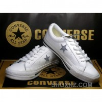 Womens Converse One Star Cream Silver Shoes ZyWWx