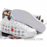 Womens Converse One Star White Red Shoes C5FzA