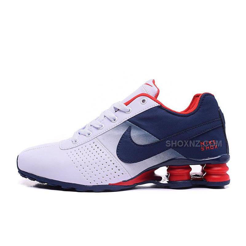 Men Shox Deliver White Black Red