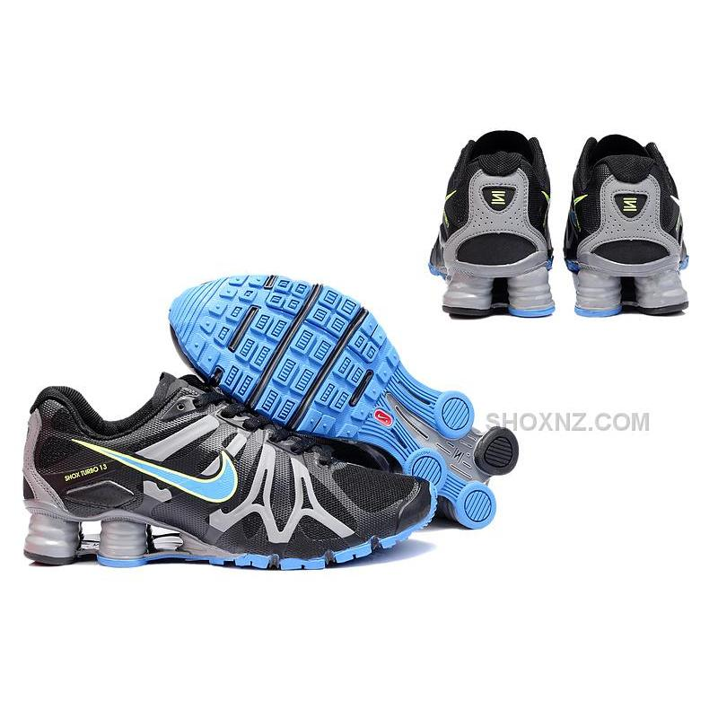 promo code deef5 6543b ... mens nike shox turbo 13 laf black maize silver .. ...
