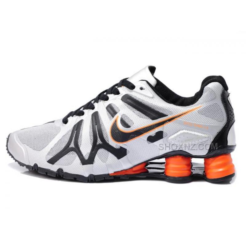 New Nike Shox Turbo+13 Shoes White Black Orange