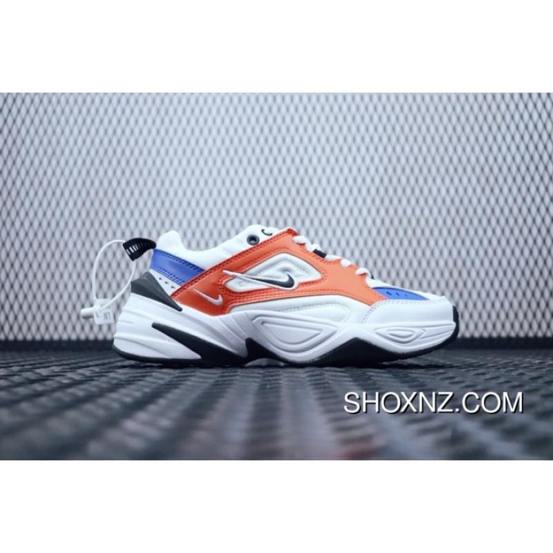 9048df9f4b857e New Recently Very Fire Nike Basking Dad Shoes Air M2K Tekno White Orange  Pink White Blue Retro Dad Sneakers Clunky Sneaker Dad Shoes AO3108-001-101  Online