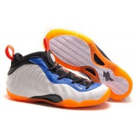Buy Cheap Nike Air Foamposite One 2014 White Black Orange Mens Shoes