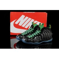 Buy Cheap Nike Air Foamposite One 2014 Black Green Mens Shoes