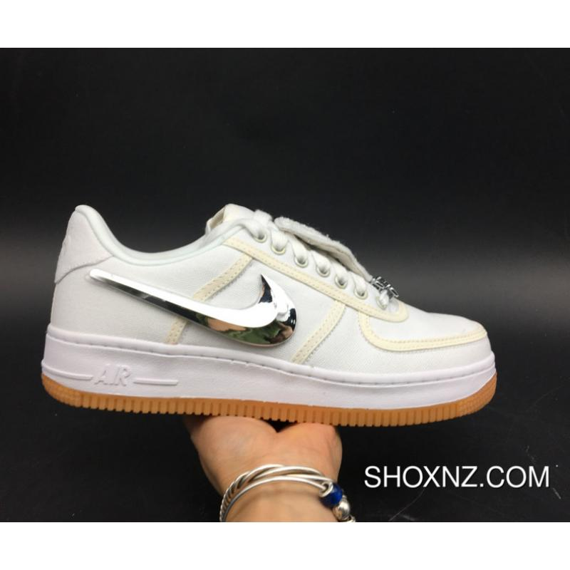 official photos 64532 db86f Travis Scott X Nike Air Force 1 Low Triple White New Style ...