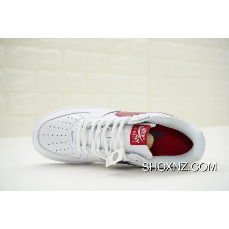 Plant level Version Made In Taiwan Limited Nike Air Force 1 Low Retro Classic One All match Sneakers White Skin Gradient Wine Red Hook 845053 105