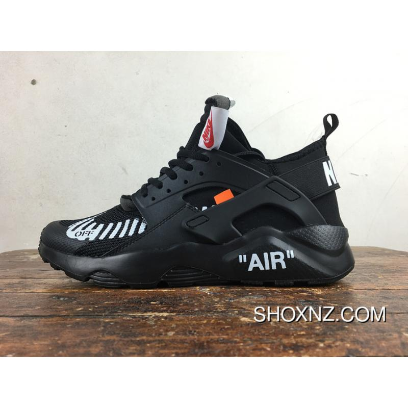 separation shoes 117e0 4447b Nike Huarache 4 Customized Air Ultra Joint OFF-WHITE AA3841-001 All Black  Top Deals