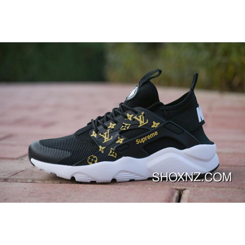arrives 600d1 ae429 Nike Air Huarache 4 LV Collaboration Black WHite Color Top Deals, Price    88.32 - Shox NZ - Nike Shox NZ Running shoes - ShoxNZ.com