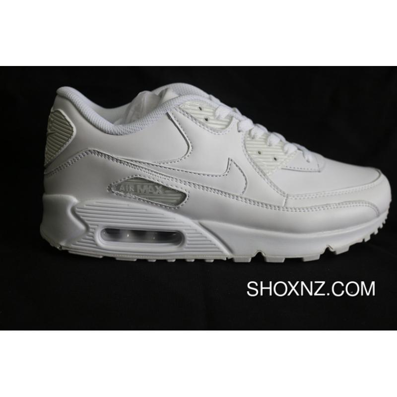 8c81bae187a6 Best All Nike Air Max90 All White Action Leather Max90 Style Code ...