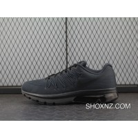 sports shoes ba993 9f01a NIKE AIR MAX EXCELLERATE 5 852692-003 All Black Half-palm Cushion Running  Shoes