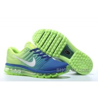 Authentic Nike Air Max 2017 Rolay Blue Volt Silver Online PxxyGhE