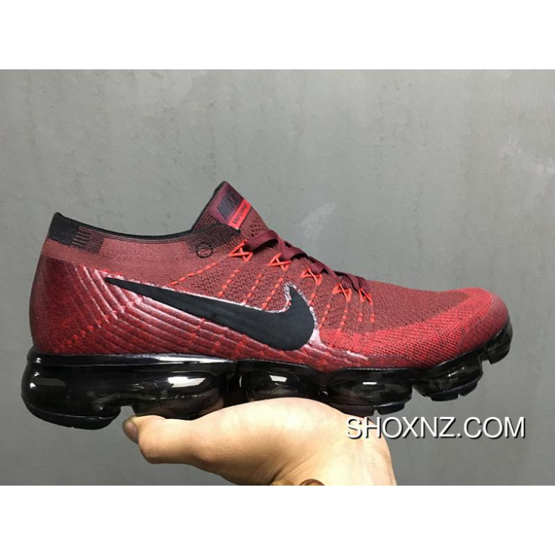 huge discount 2aa03 fce94 Nike AIR MAX 2018 AIR VaporMax 2018 Zoom Knit Woven Palm FLYKNIT Zoom AIR  Running Shoes Red Wine Outlet