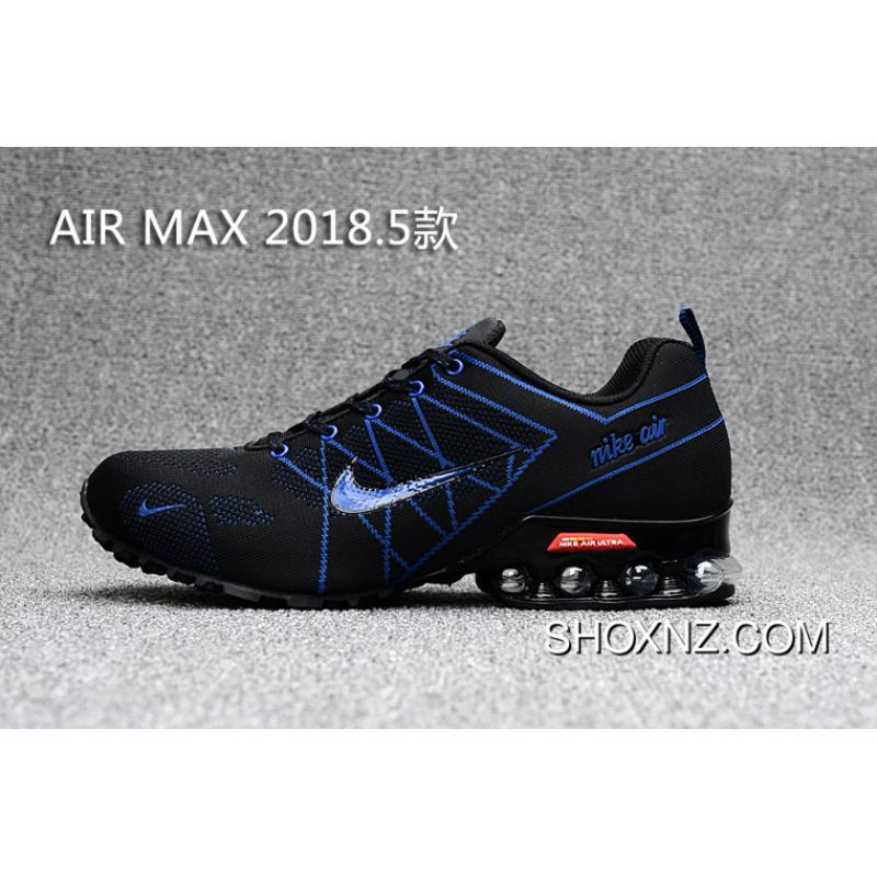 quality design 1a6be d3c81 Black Navy Blue Nike 2018 Knitting FLYKNIT Half Cushion Air Max 2018.5 For  Sale