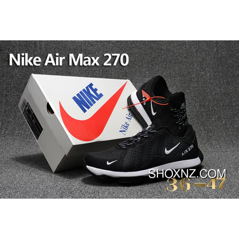 73e190b7ab ... Black WHite Nike Air Max Flair 270 Nanotechnology PLASTIC Zoom Women  Shoes And Men Shoes For ...