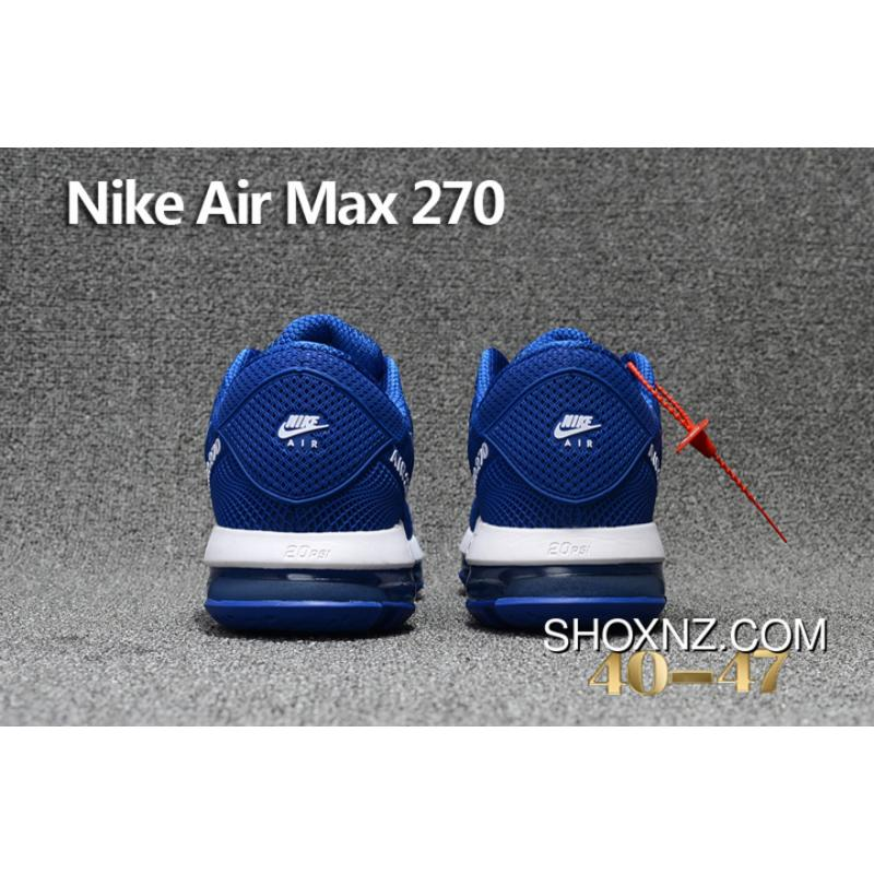 0f154d276f537d ... Navy Blue White Nike Air Max Flair 270 Nanotechnology PLASTIC Zoom  Women Shoes And Men Shoes ...