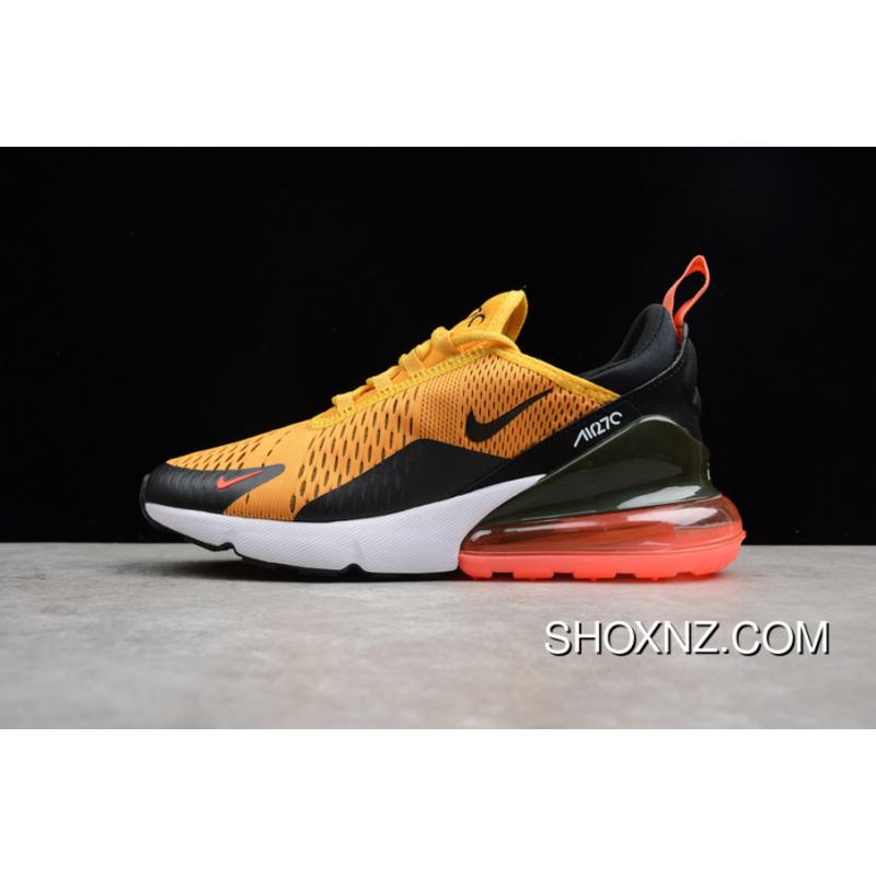 the latest 6823f 68410 Nike 270 Air Zoom AH8050-004 Yellow Black Red Air Max 270 Men Running Shoes  Outlet