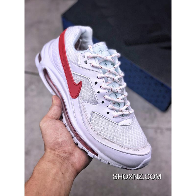 new product cd7ee eccf7 Nike Air Max 97 BW Skepta What The Red Blue White Zoom Running Shoes AO  2113 100 Size For Sale