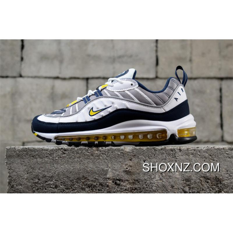 online store bbc1b 63121 Best Nike Air Max 98 Gundam Blue Yellow As Retro Sport Running Shoes  640774-105