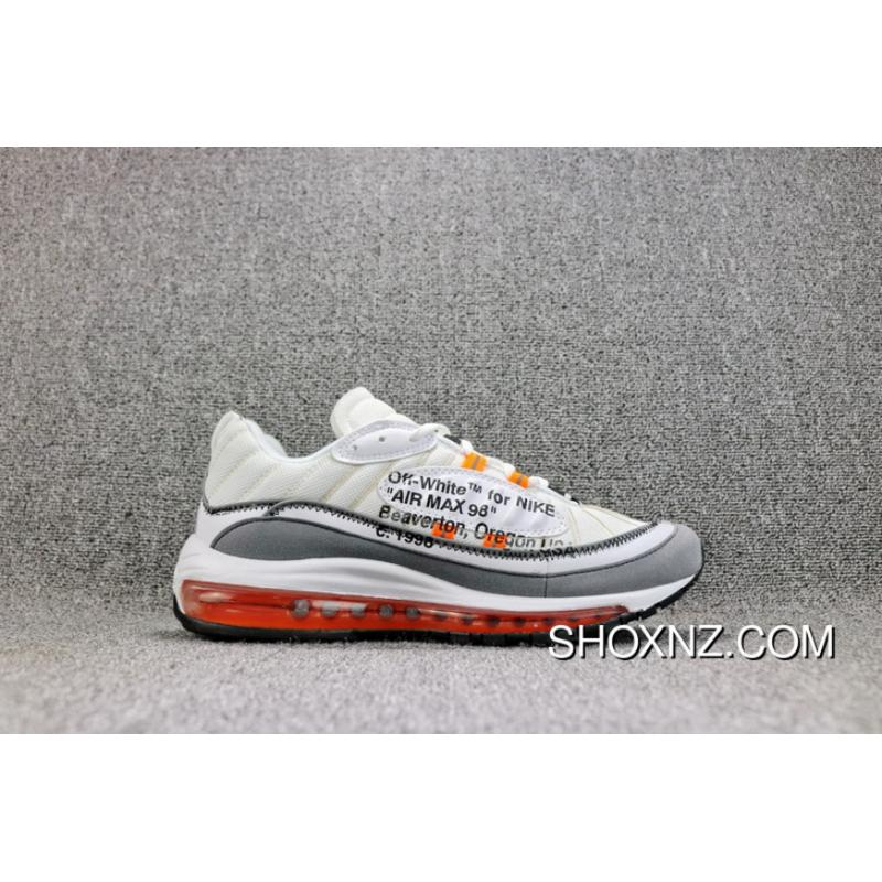 buy popular 77e5d fd531 OFF-WHITE X Nike Air Max 98 Collaboration Retro Sport Zoom Running Shoes  Men Shoes AJ6302-026 Outlet