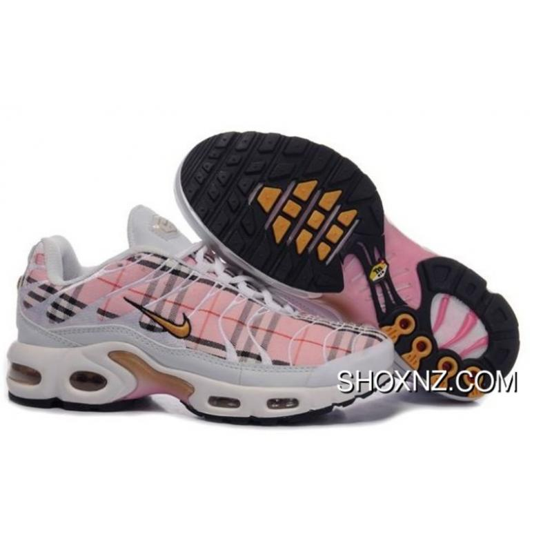 more photos 74e64 6fbbe Womens Nike Air Max Tn White Pink Plaid Shoes Online