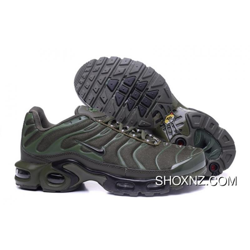 new style 71453 49c7d Mens/Womens Nike Air Max Tn Shoes Olive Green/Grey New Style