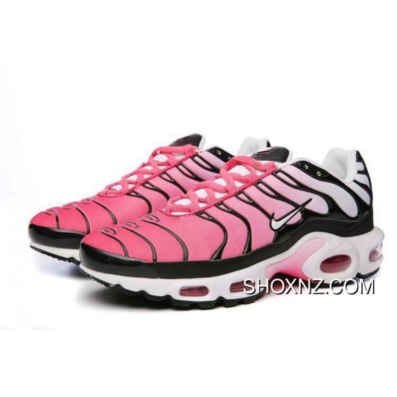 finest selection 5f315 24490 2018 Nike Womens Air Max Tn Plus Pink Black White New Release