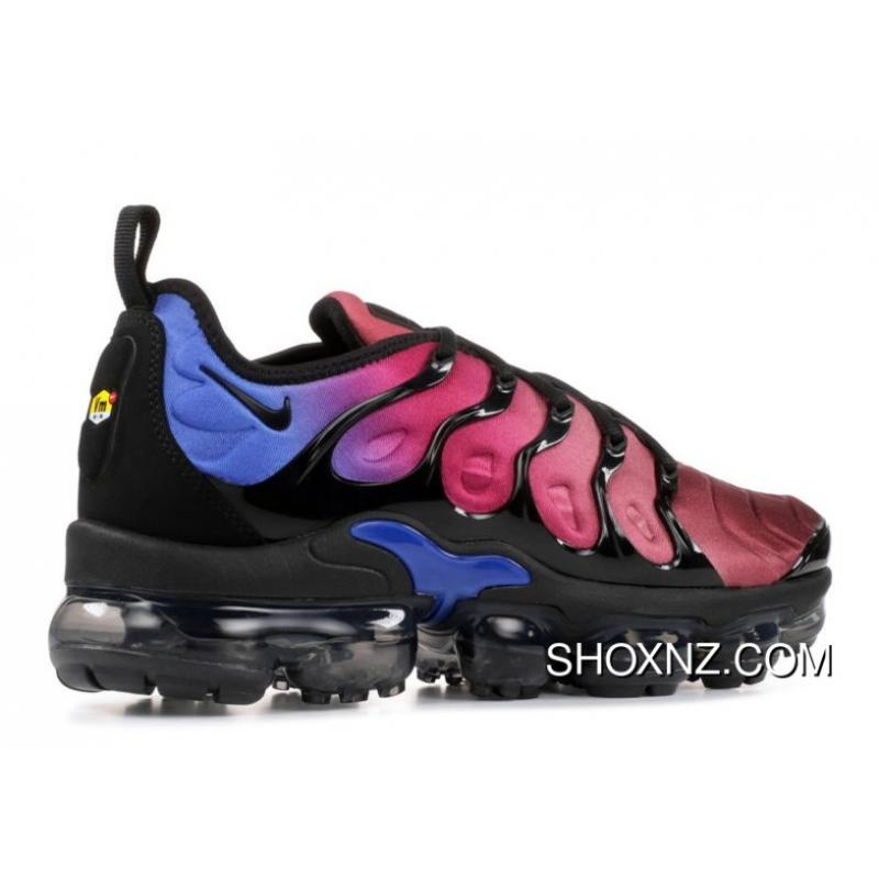 49a2e41175e ... Womens Nike Air Vapormax Plus Shoes Black Black Team Red Hyper Violet  Ao4550 ...