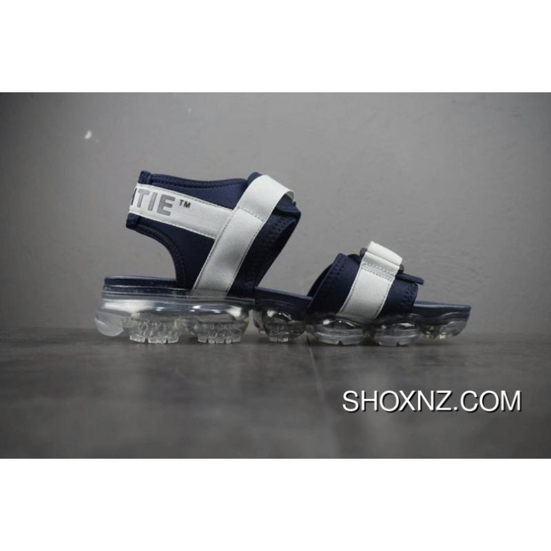 bebcb04bd2c13a ... Summer Virgil Abloh Nike Air Off White X Zoom Air VaporMax Beach Sandals  Black Orange Blue ...