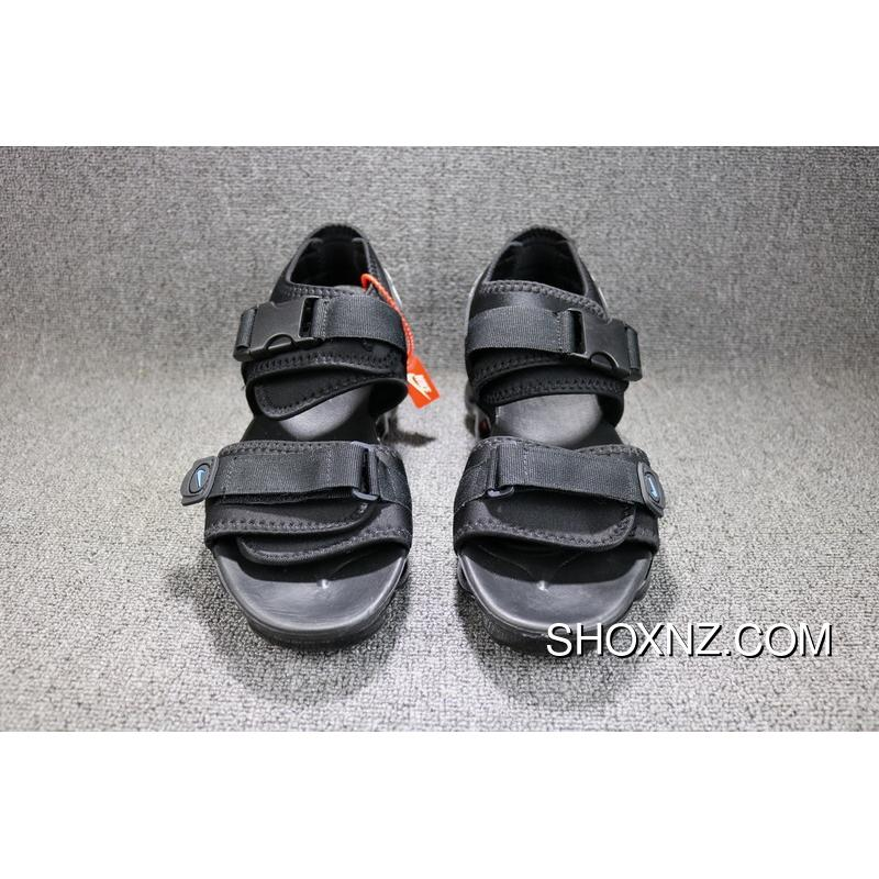 timeless design 06df4 a5d8f OFF-WHITE X Nike Air VaporMax Sandals All Black Women Shoes And Men Shoes  850588-001 Outlet