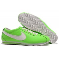 Nike Cortez Women Leather Shoes Green White