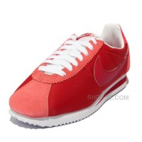 Nike Cortez Women Nylon Shoes Deep Red