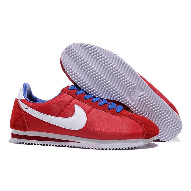 low cost 962b7 21985 Nike Cortez Women Nylon Shoes Red White Blue