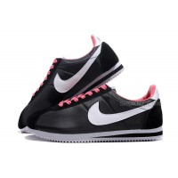 Women Nike Cortez Oxford Cloth Black White Pink
