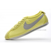 Women Nike Cortez 2 Oxford Cloth Shoes Green Grey