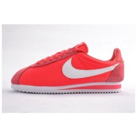 Women Nike Cortez Oxford Cloth Shoes Red Alert