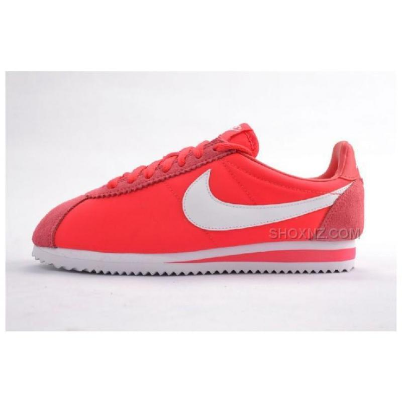 Women Nike Cortez Oxford Cloth Shoes Red Alert ...